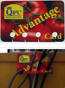 credit card cable organizer