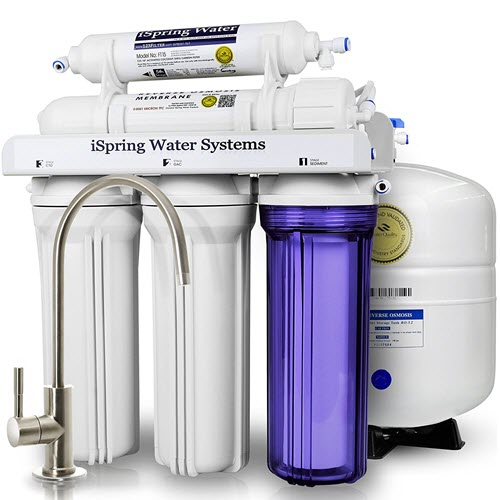 iSpring WQA RCC7 clean drinking water set up