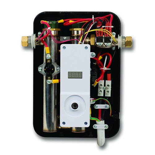 tankless water heater inside parts