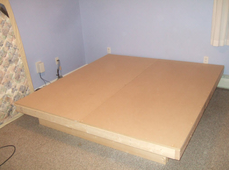 Platform bed finished